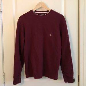 mens burgundy polo sweater